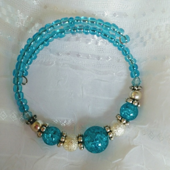 Jewelry   Handmade Memory Wire Bracelet   Poshmark